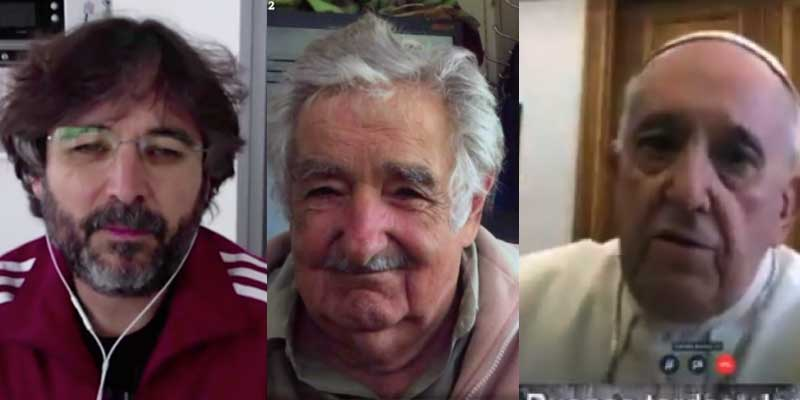 Évole, con sudadera de Adidas, sigue doblando la apuesta contra el capitalismo y la globalización: José Mujica coge el relevo del Papa Francisco en laSexta