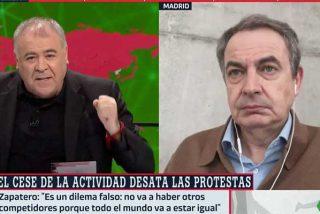 Zapatero le hace el programa a Ferreras: carga contra