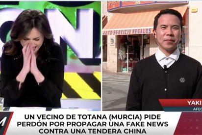 El Burladero / Marta Flich arruina el intento pseudosolidario de 'Todo es mentira' con la comunidad china humillando a un invitado en su cara