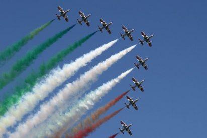 Te pondrá los pelos de punta: la fuerza aérea italiana homenajea así a sus confinados compatriotas