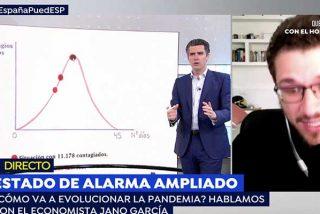 Espejo Público no tarda ni un minuto en cortar a un invitado en cuanto nombra el 8M para explicar la curva de la pandemia del coronavirus: