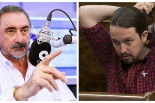 Pablo Iglesias desbarra en las redes y 'culpa' a Carlos Herrera de los ataques a las sedes de Podemos