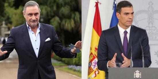 Herrera retrata a Sánchez por sus comparecencias a lo 'Aló, presidente' diseñadas por Redondo y le arroja la solidaridad de las entidades privadas para que tome nota