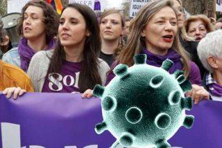 Irene Montero ya paga la ineptitud de no suspender la marcha feminazi del 8-M y da positivo en coronavirus