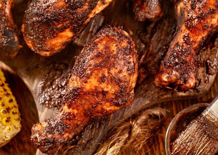 Pollo picante a la jamaicana, (Jerk chicken)