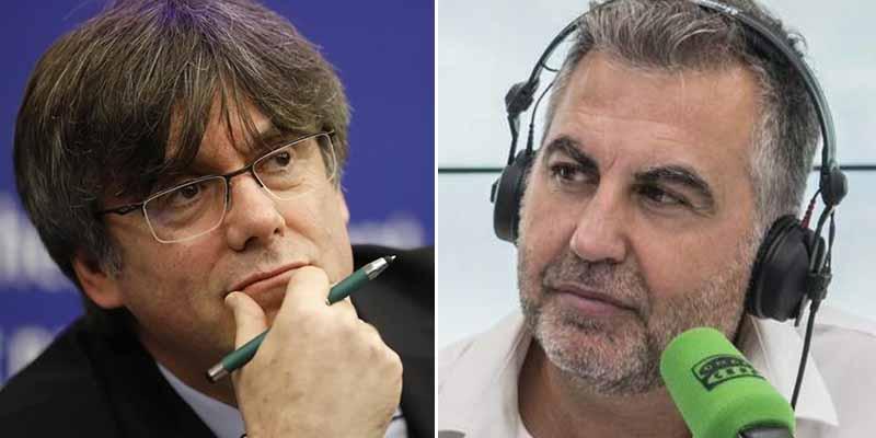 Alsina zurra al despreciable Puigdemont, cobarde hasta para tuitear su odio contra Madrid