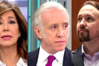 TVE miente para proteger a Iglesias, pero Ana Rosa Quintana y Eduardo Inda destripan su bulo de la mascarilla y de paso hunden al podemita