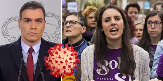 El Gobierno se hunde en su irresponsabilidad del 8-M con la estocada final de los españoles
