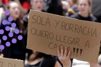 """¡¡¡SOLAS Y BORRACHAS!!! ASÍ QUIEREN LLEGAR A CASA LAS FEMINISTAS RADICALES DEL """"CHOCHOPOWER"""""""