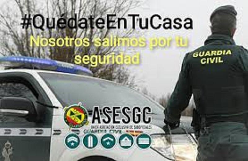 ASESGC, manifiesta su protesta por la orden relativa la siniestralidad de los Guardias Civiles relativa al COVID-19