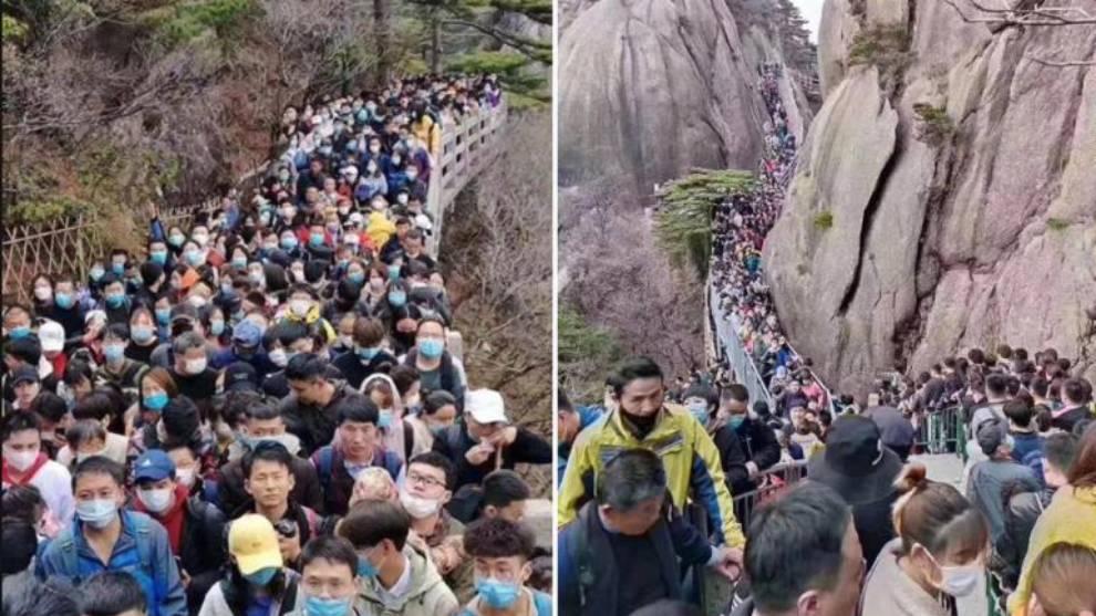China: los sitios turísticos se abarrotan de personas en plena 'resaca' del coronavirus