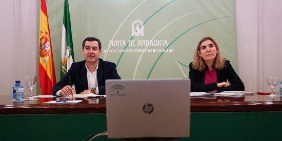 Juanma Moreno compromete el apoyo incondicional a las pymes y autónomos