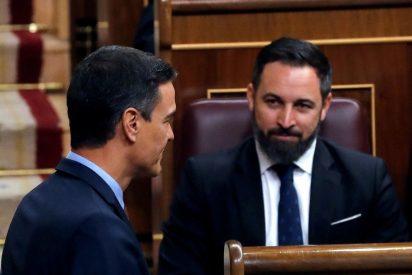 """Santiago Abascal (Vox) demanda a Pedro Sánchez y Pablo Iglesias por """"imprudencia grave con resultado de muerte"""""""