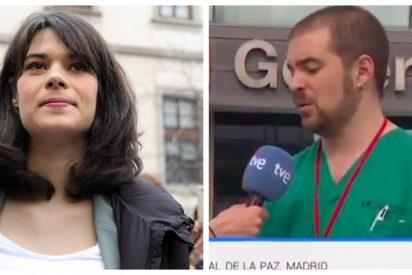 El enfermero podemita de TVE apoyó a la condenada Isa Serra en las municipales (y esta foto lo demuestra)