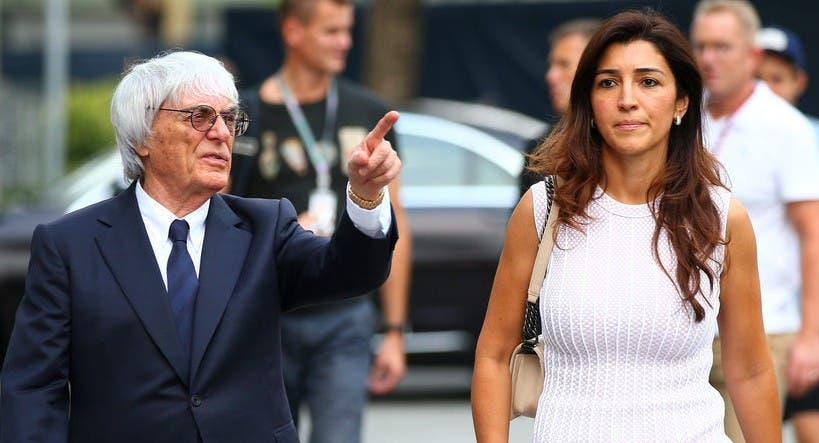 Bernie Ecclestone será padre a los 89 años con su última esposa, que es medio siglo más joven que él