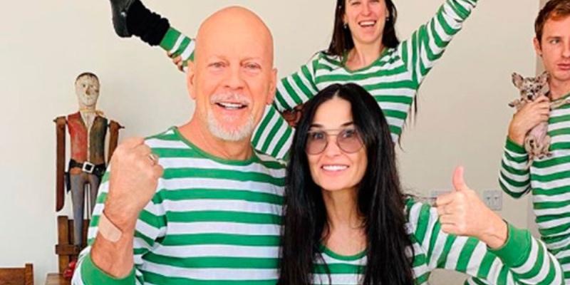 Bruce Willis se confina con Demi Moore en vez de con su mujer: su hija desvela el accidental motivo