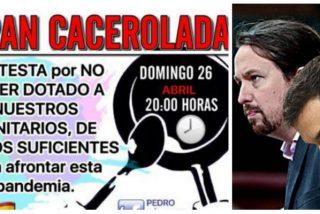 Estruendosa cacerolada en toda España contra el Gobierno del bulo Sánchez-Iglesias