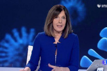 Caos en el telediario de TVE con una Ana Blanco que intenta salvar la papeleta