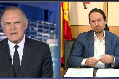 """Pablo Iglesias se transforma en un """"patriota"""" en Telecinco para justificar las expropiaciones bolivarianas en España"""