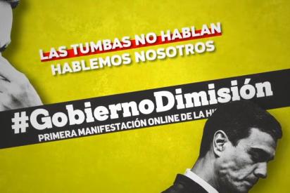 Primera manifestación online en España: más de 400.000 ciudadanos exigen la dimisión de Pedro Sánchez por su pésima gestión del COVID-19