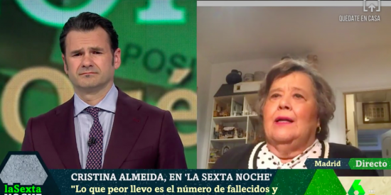 La comunista Cristina Almeida, que animó a asistir al 8-M porque el machismo mataba más que el virus, ahora dice sufrir por los muertos
