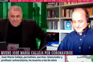 García Ferreras y el exministro Miguel Sebastián rompen a llorar en directo al conocer el fallecimiento de José María Calleja