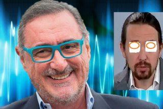 """Carlos Herrera: """"Esto es el adiós de Pablo Iglesias a la primera fila política"""""""