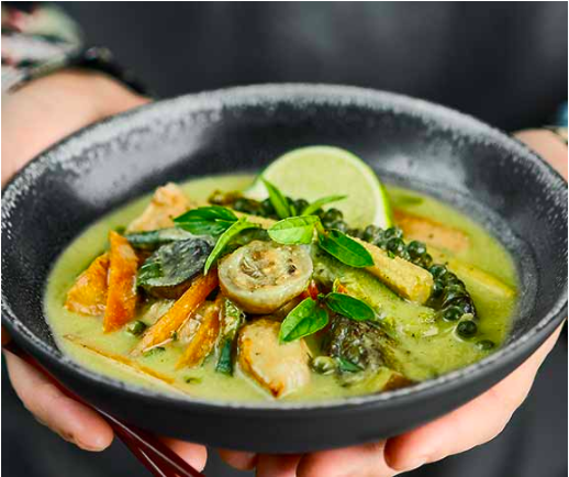 Curry verde tailandes