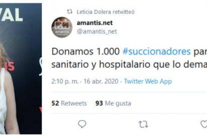 Leticia Dolera indigna a los profesionales sanitarios al promocionar succionadores para las enfermeras