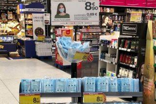 Estos son los supermercados que ya venden mascarillas desechables