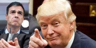Donald Trump pone al socialista Sánchez como ejemplo de lo que no hay que hacer