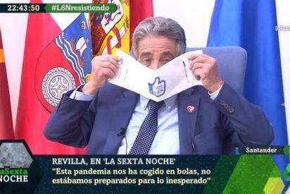 """Así son las 'servilletas-mascarilla' por las que Revilla ha pagado 150.000 euros: """"No valen ni para limpiarse después de comer anchoas"""""""