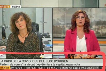 """TV3, en su mundo paralelo: acusa a Madrid de ser el """"origen"""" del coronavirus"""