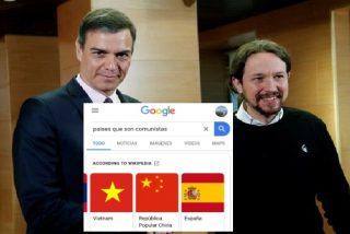 Google incluye a la España de Sánchez-Iglesias en el listado de países comunistas