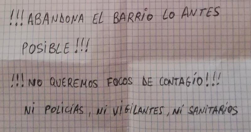 """Alberto Sáez de la Cruz: """"!!! Abandona el barrio lo antes posible!!!"""""""
