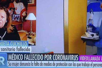 La esposa del doctor del Samur fallecido por COVID-19 se rompe con Ana Rosa y 'revienta' a Sánchez: