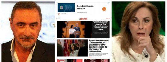 Carlos Herrera despluma a la zapaterista Angélica Rubio por sus infundios sobre el hospital de Ifema