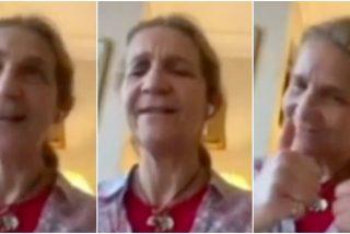La Infanta Elena canta contra el COVID-19 el 'Resistiré' más conmovedor