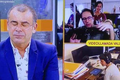 La familia Cebrián Gervás, confinada con once hijos, sorprende a Jorge Javier cuando comentan su satisfacción por recibir un mensaje de Santiago Abascal
