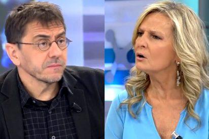 Monedero pide 'la cabeza' de Isabel San Sebastián por aplaudir el durísimo estacazo de Macarena Olona (VOX) a TVE
