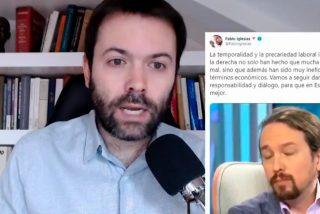El economista Rallo restriega por la boca a Iglesias todos sus bulos, los de Podemos y su inepto Gobierno