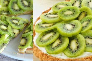 Tarta de yogur con plátano y kiwi: Fácil preparación