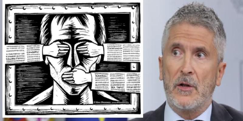 Cuando el censor Marlaska sentenció que llamar 'putero, borracho y cabrón' al Rey de España es libertad de expresión