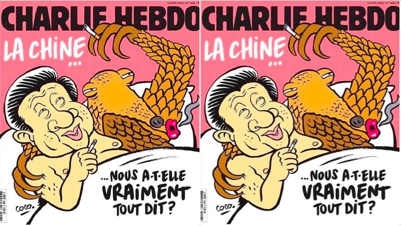 'Charlie Hebdo': Xi Jinping y un pangolín... en la intimidad