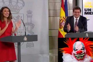 Las risas de la ministra de Trabajo y del de Seguridad Social, el drama del paro y los 10.000 muertos por coronavirus