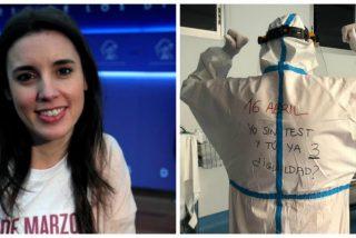 Un enfermero le saca los colores a Irene Montero con una foto demoledora