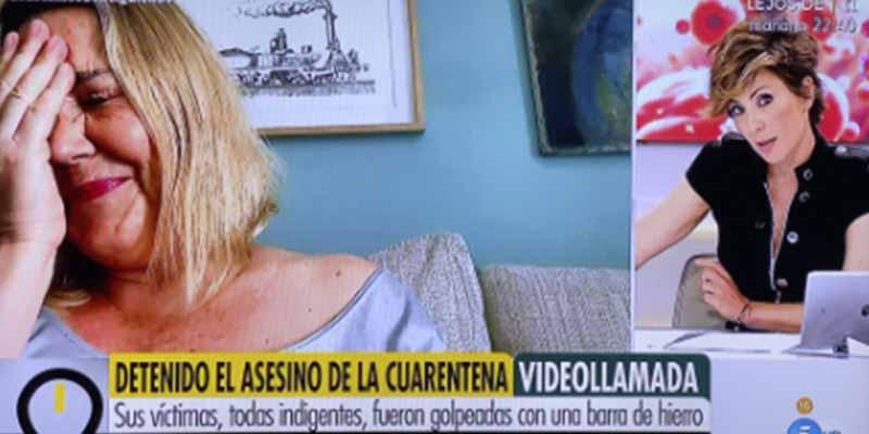 El perro de Mayka Navarro se hace un Merlos en Telecinco y se cuela en directo en 'Ya es mediodía'