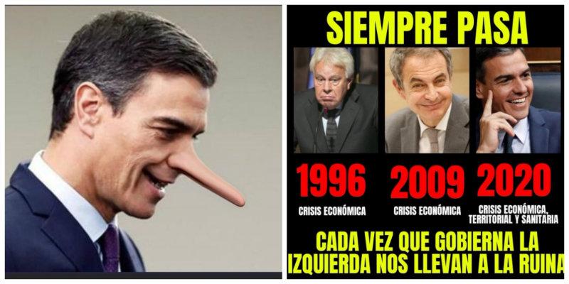 """El imparable grito en las redes contra un presidente de Gobierno ruin e inepto: """"#SánchezVeteYa"""""""
