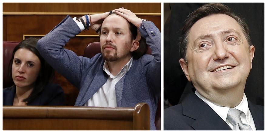 """Losantos denuncia la última puñalada de Podemos a la libertad: """"Retuitear un simple meme de Iglesias o Montero nos convertirá en criminales"""""""