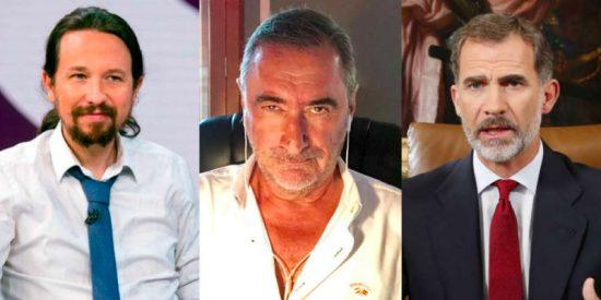 Carlos Herrera compara al Rey con Iglesias frente al coronavirus y concluye que el Podemos es un